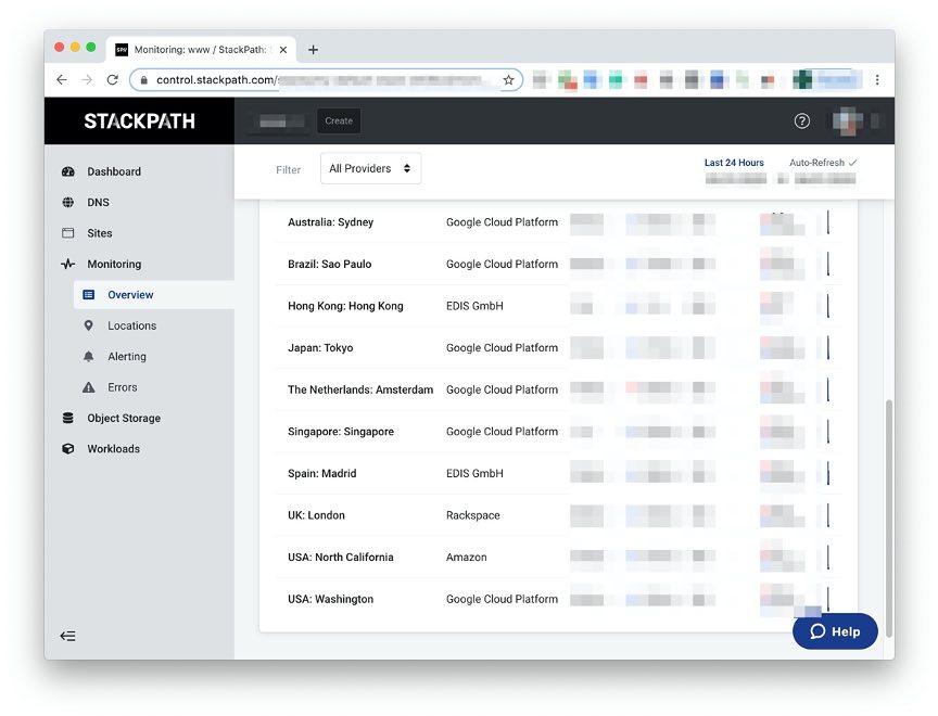 StackPath monitoring interface