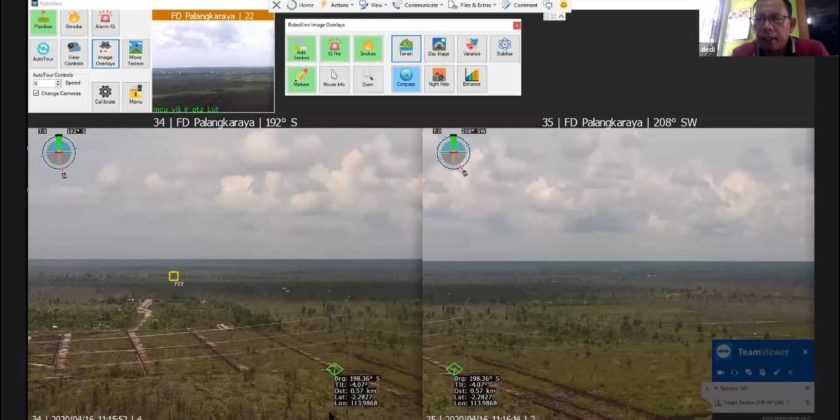 MoEF overcame COVID-19 challenges to conduct wildfire detection training online