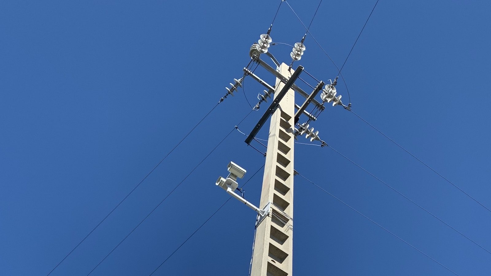 InsightFD installed on a distribution power tower