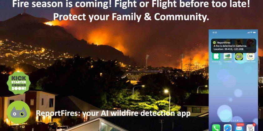 ReportFires app – our first Kickstarter campaign