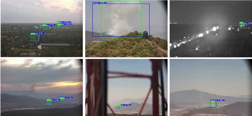 Figure 7: RoboticsCats AI Smoke Detection can detect wildfires in daytime and nighttime